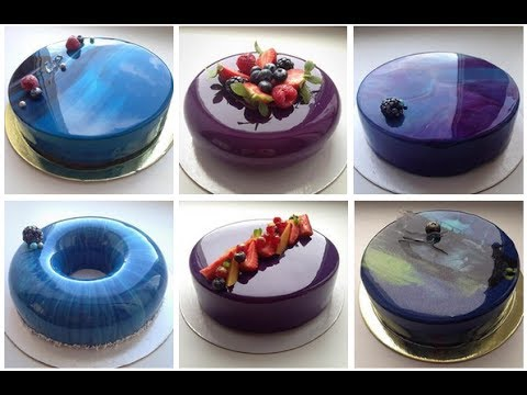 цветная глазурь торта видео