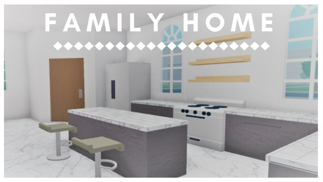 Roblox welcome to bloxburg family home youtube for Dining room ideas bloxburg