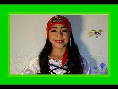 Pirate Halloween 2013 Makeup tutorial / Pirate Costume - YouTube