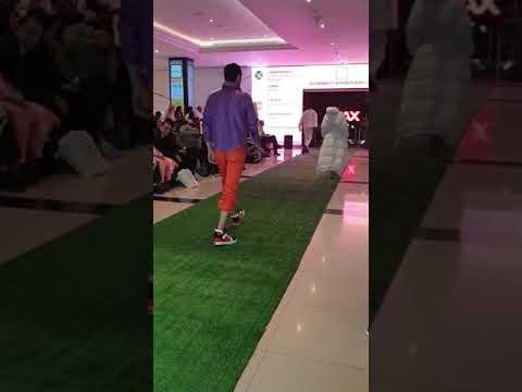 Walid Riachy international fashion model in Fashion Revolution Week UAE