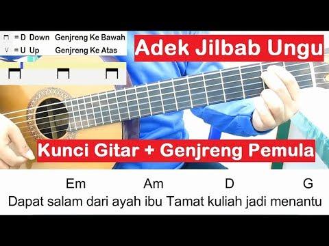 Kunci Gitar Adek Jilbab Ungu Belajar Gitar Untuk Pemula Youtube
