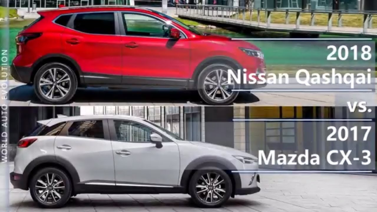 2018 nissan qashqai vs 2017 mazda cx 3 technical comparison youtube. Black Bedroom Furniture Sets. Home Design Ideas