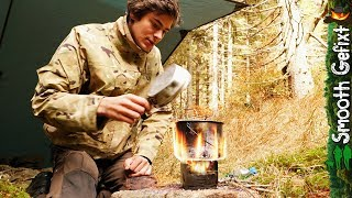 Fall Camping in the Woods ~with Ultralight Wood Stove