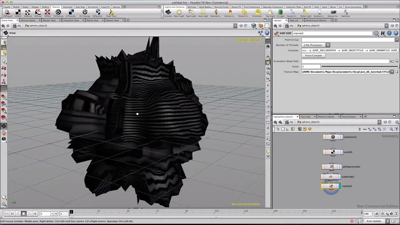Houdini How To Tech Sphere Displace