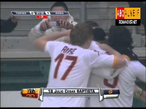 Torino 0-1 Roma   Baptista Wonderful Goal Double Kick   R4E Network
