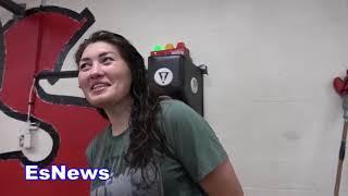 Meet The Female GGG Hard Hitting Aida Satybaldinova Of Kazakhstan EsNews Boxing