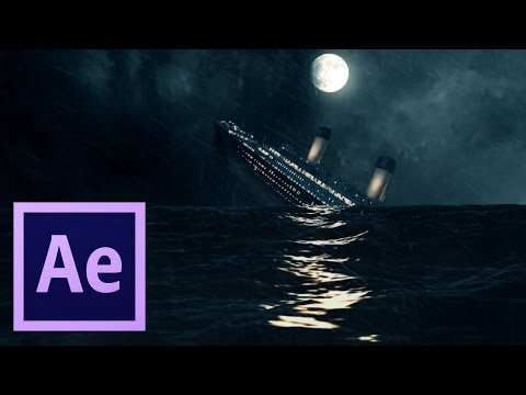 After Effects TUTORIALS - Creating Realistic Ocean Scene