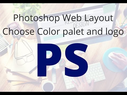 photoshop layout design choose color palet and logo image