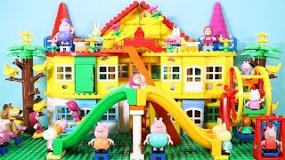 Peppa Pig Building Blocks Lego House Toys - Lego Duplo House Creations Toys For Kids #2
