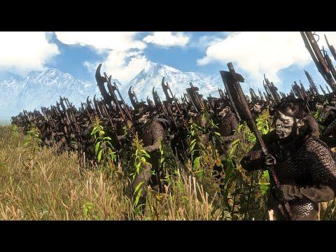 The Dwarves Vs Moria Orcs | 12,000 Unit Cinematic Battle | Total War Rise of Mordor |
