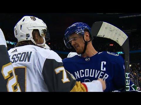 Daniel, Henrik Sedin shake hands with Golden Knights