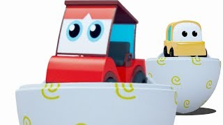 learn colors with surprise eggs and cartoon car vehicles in this 3D by Kids Channel