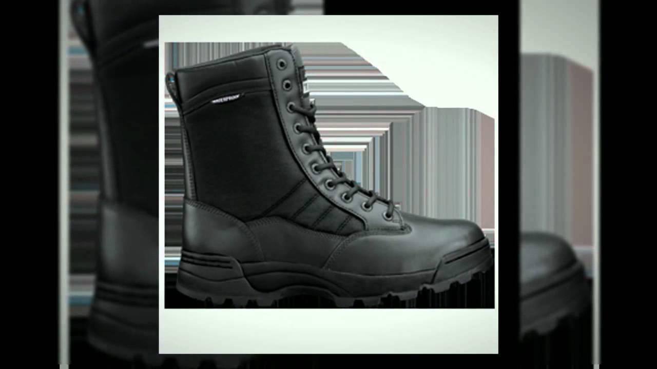 Black Combat Boots - Comfortable Black Combat Boots! - YouTube