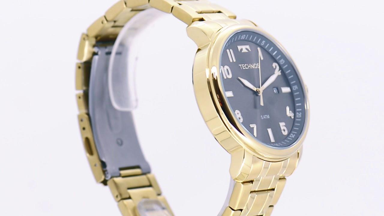 95f1075c5de12 Relógio Technos Masculino Steel 2115MNG 4C - Eclock - YouTube