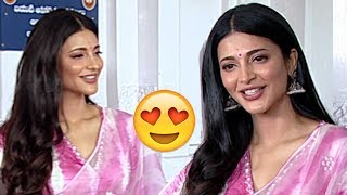 Actress Sruthi Hassan Special And CUTE Moments At #KRACK Movie Opening | Filmylooks