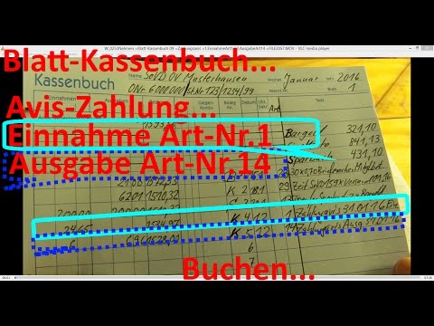 W 0253 =Blatt-Kassenbuch 09 =Zahlungsavis =1.EinnahmeArt1 + 2eArt14