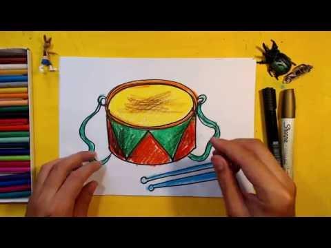 Как нарисовать ударные инструменты