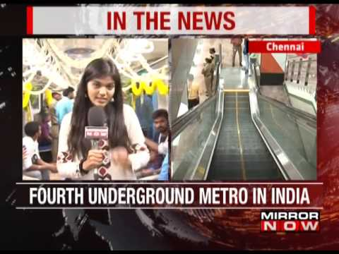 Chennai's first underground metro service launched  - The News