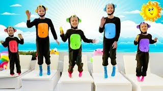 Five little monkeys jumping on the bad / by Keen on Toys