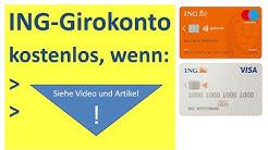 ING Girokonto kostenlos, wenn: