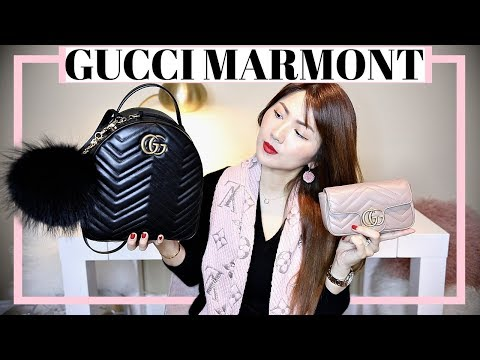 GUCCI MARMONT BACKPACK + SUPER MINI ❤️ MINI REVIEW, WIMB, FIRST IMPRESSIONS...| CHARIS