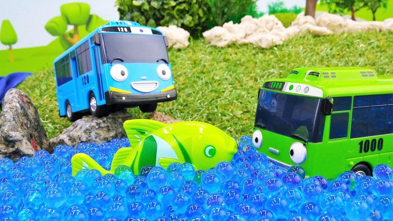 Мультики про машинки - Маленький автобус Тайо на рыбалке ...