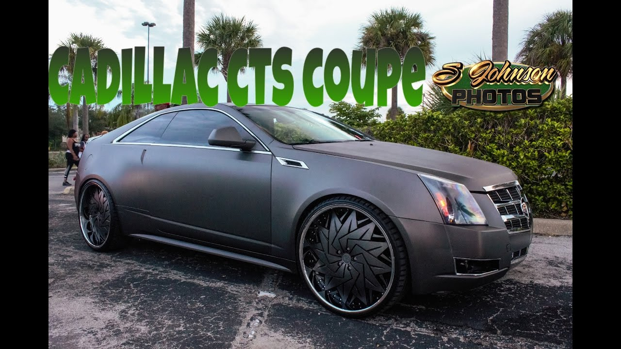 Cadillac Ats Rims >> Matte Grey Cadillac CTS Coupe on Dub Wheels in HD (must see) - YouTube