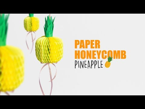 Paper Honeycomb Pineapple | DIY Wall Hanging Decor