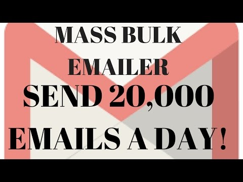 Send Bulk 10,000 to 20,000 Emails A DAY with this AMAZING! Email Bulk sender