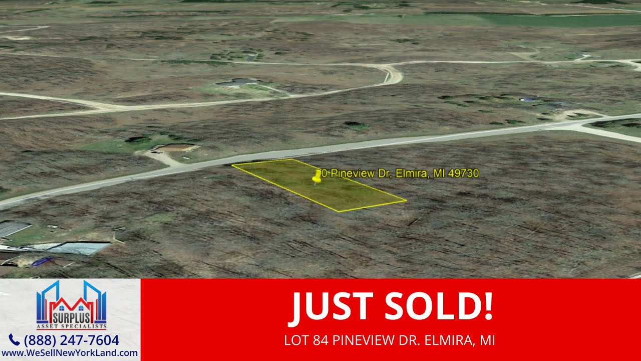 Lot 84 Pineview Dr. Elmira, MI - Cheap Land For Sale Michigan - Surplus Asset Specialists Inc.