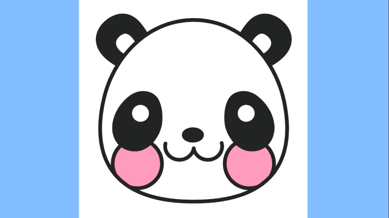 How to draw a Cute Panda Emoji Coloring Pages for Kids Panda