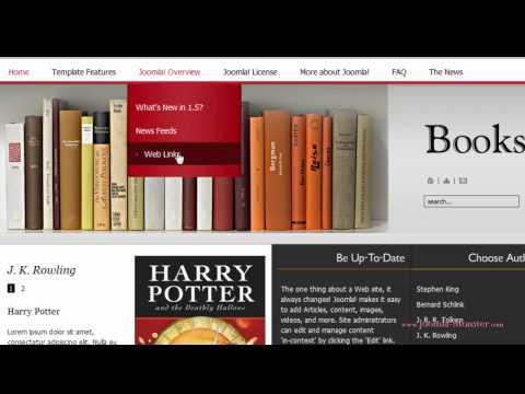 Joomla 1.5 Template: JM Books