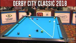 TOP 10 BEST SHOTS! Derby City Classic 2018 (9-ball Pool) by Chris Melling