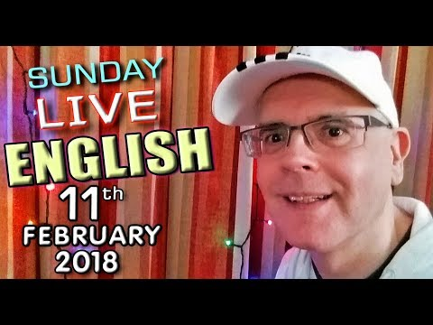 Live English Lesson - phrasal verbs - English words - meditation - 11th February 2018 - Mr Duncan