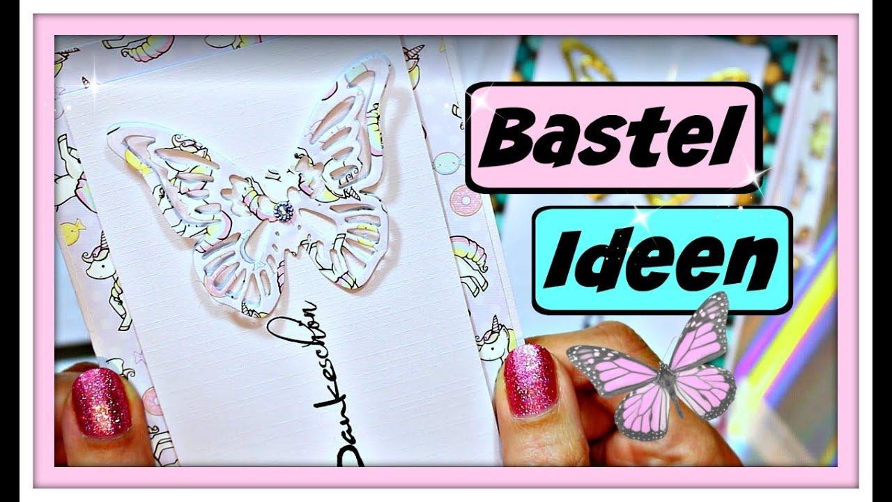 Basteln Mit Papier Karten Selber Basteln Als Dankeschon Diy