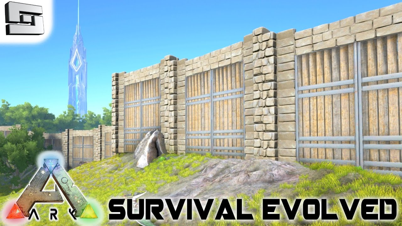 ark survival evolved the great wall s2e5 gameplay youtube