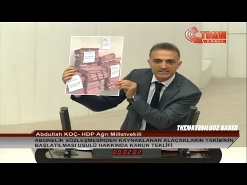 HDP AĞRI MİLETVEKİLİ ABDULLAH KOÇ MECLİS KONUŞMASI-4 ARALIK 2018