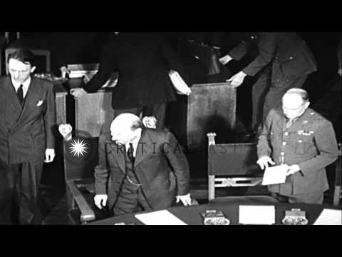 President Harry S Truman, British PM Clement Attlee, and Generalissimo Joseph Sta...HD Stock Footage