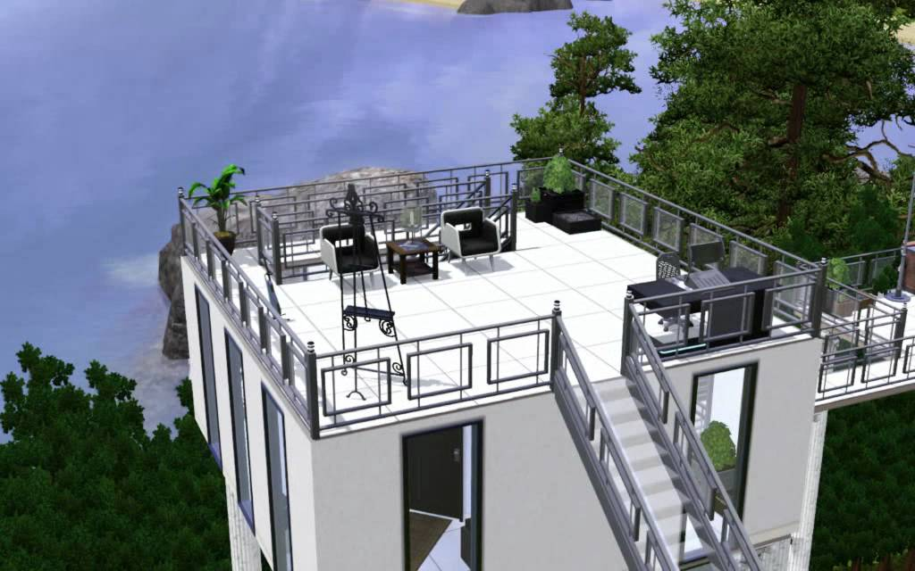 The sims 3 modern pool house 2 youtube for Pool design sims 3