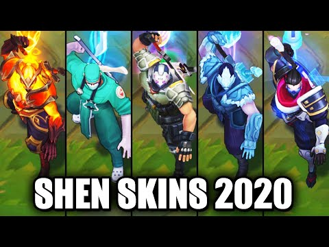 All Shen Skins Spotlight 2020 - PsyOps Latest Skin (League of Legends)