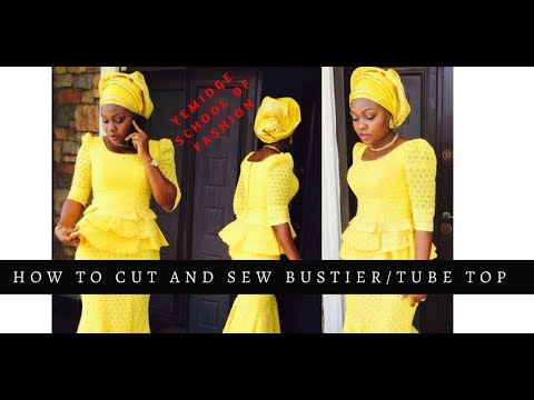 10f17ad00c9 How to Cut a Bustier (Tube) Top - YouTube