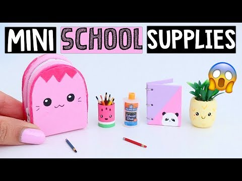DIY REAL MINIATURE SCHOOL SUPPLIES! Notebook, Backpack & MORE!