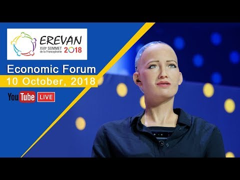 10.10.2018. Francophonie Economic Forum in Yerevan. Le Forum