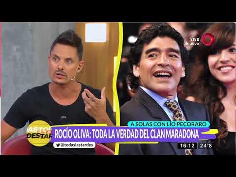 Rocío Oliva rompió el silencio con Lío Pecoraro y contó detalles del clan Maradona