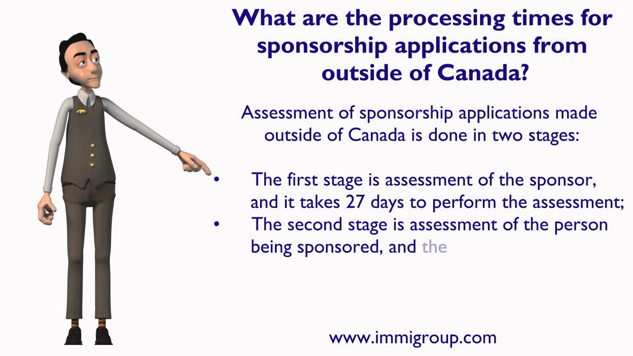 cic application processing times outside canada
