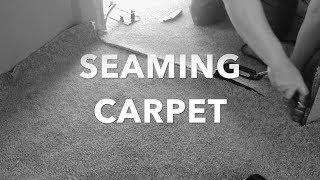 Seaming a cut pile carpet