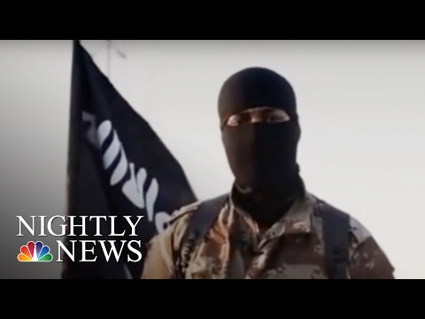 ISIS Fighter In Video Believed To Be American   NBC Nightly News