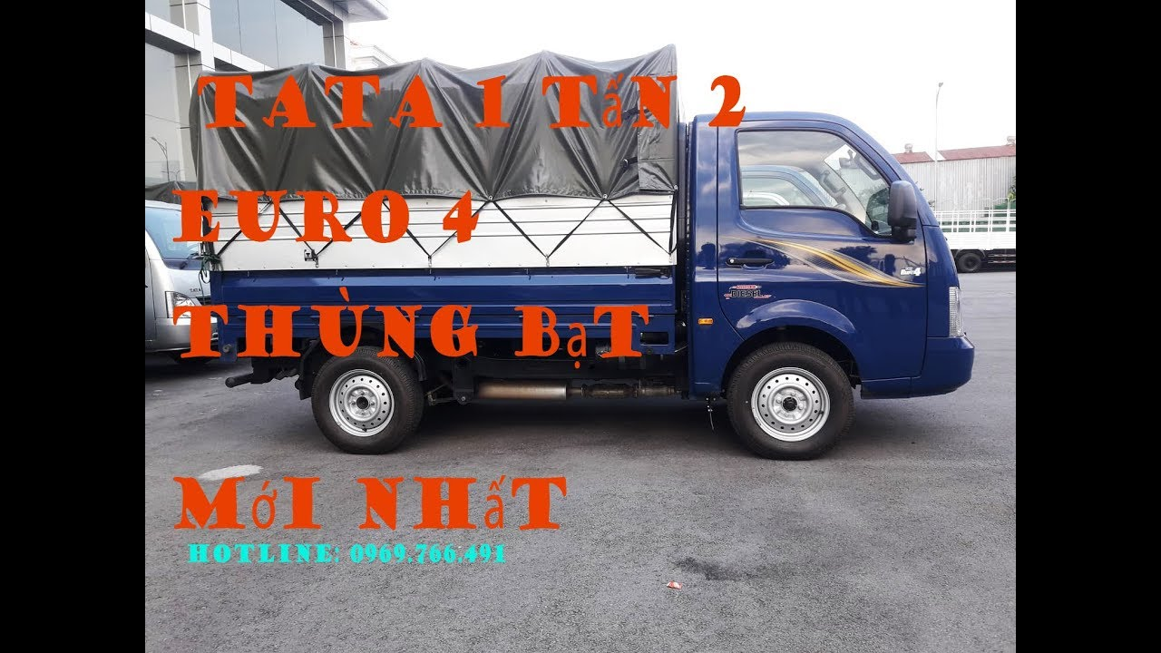 [xe tai tata]Xe tải tata 1 tấn 2 mui bạt  mới nhất|video thực tế - YouTube