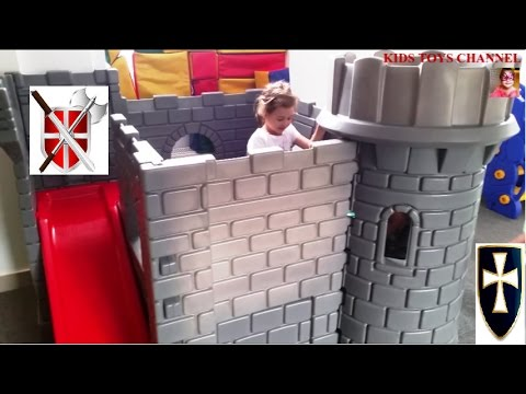 Kids Toys Castle. Kids Playing in Kingdom Playground. Funny video -
