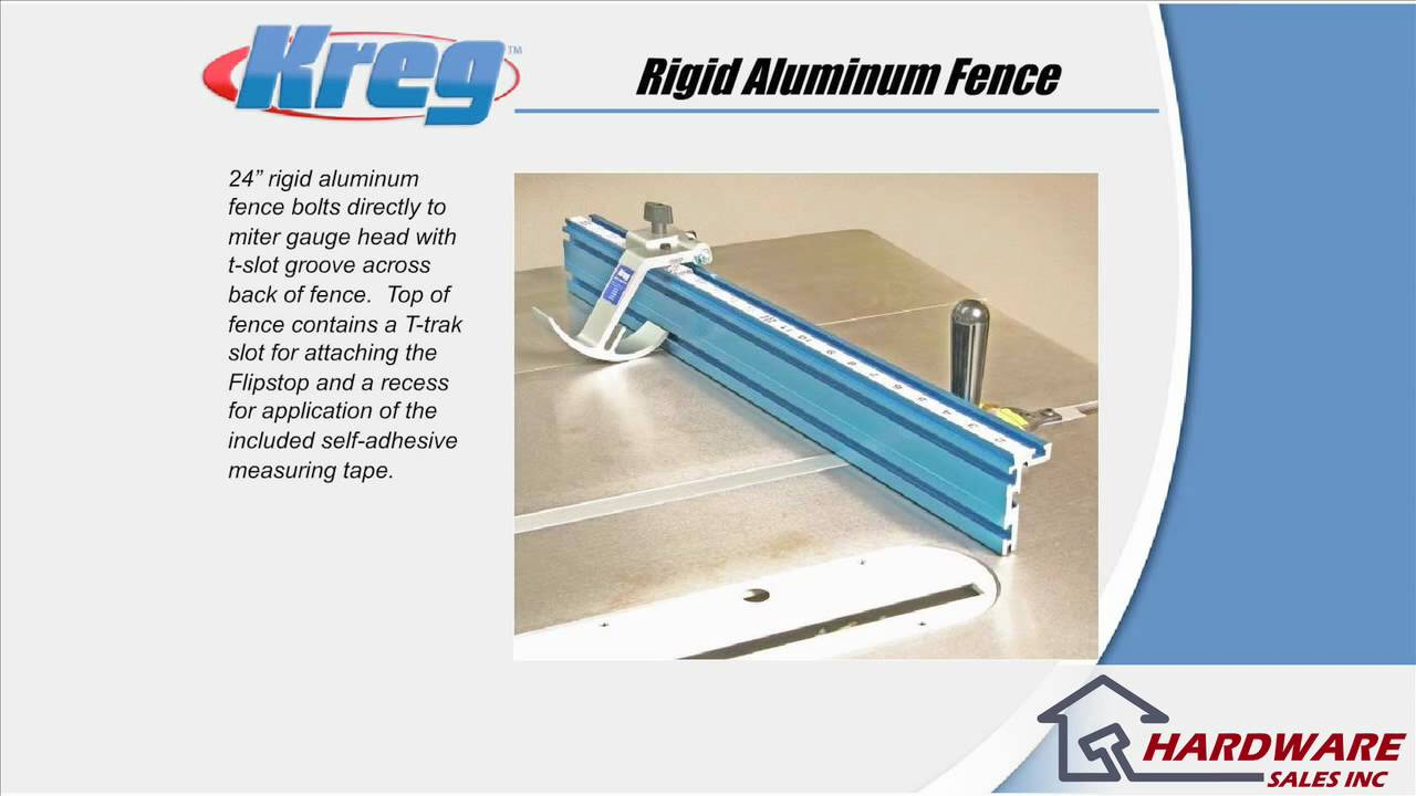Kreg KMS7102 Table Saw Precision Miter Gauge System - YouTube